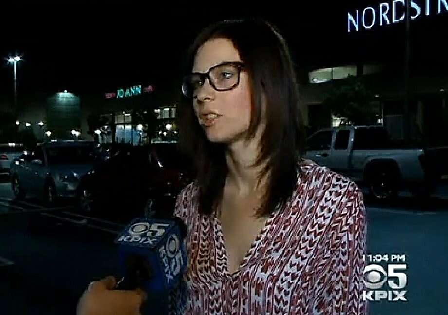 Natalie Bree Hajek-Richardson was punched in the Colma Nordstrom Rack parking lot after asking a woman to quiet her screaming 2-year-old nephew. Photo: Kpix-tv