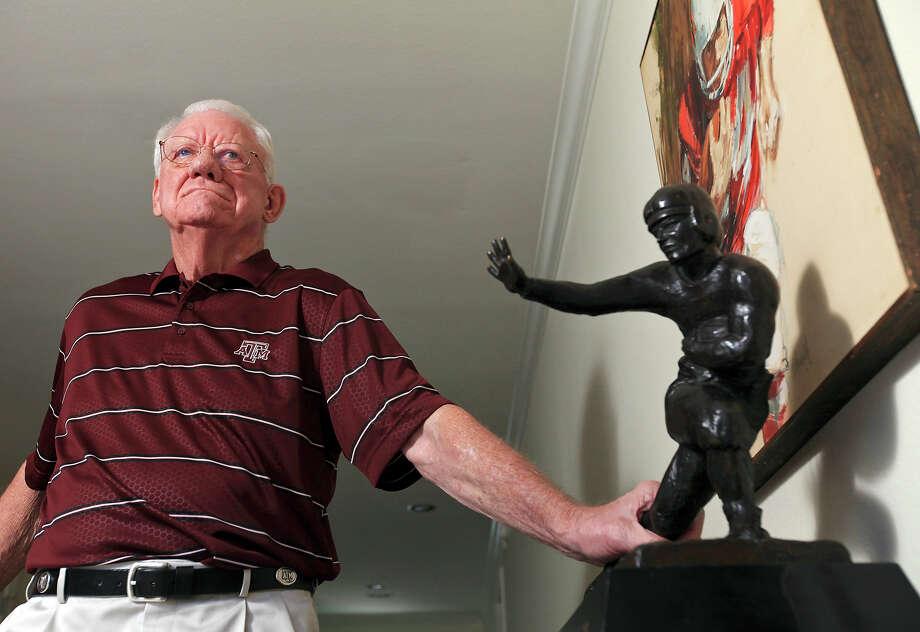 "John David Crow, who won the 1957 Heisman Trophy, helped Paul ""Bear"" Bryant rejuvenate Texas A&M football. Photo: Edward A. Ornelas /San Antonio Express-News / © 2013 San Antonio Express-News"