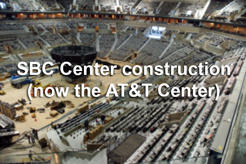 Sbc At Amp T Center Construction San Antonio Express News