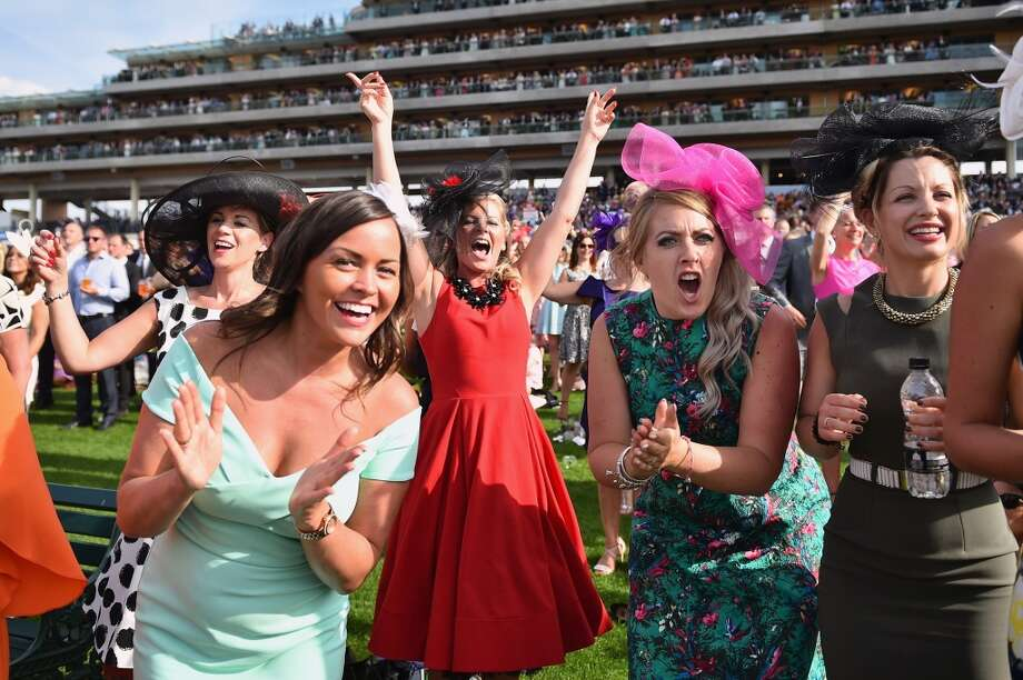 Racegoers attend Ladies Day at Royal Ascot Racecourse on June 18, 2015 in Ascot, England. Photo: Jeff J Mitchell/Getty Images