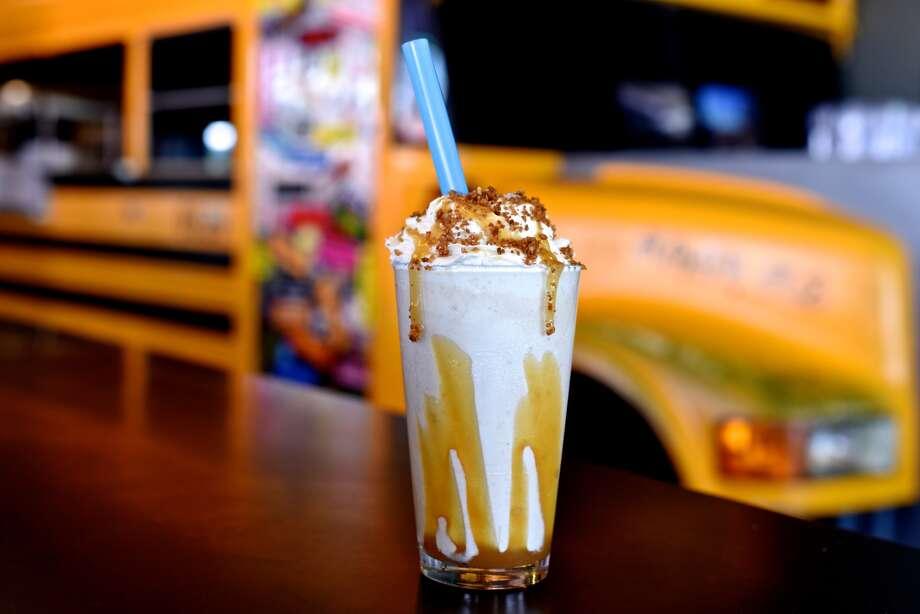 Who:Bernie's Burger Bus CafeWhat: Salted Caramel Apple Pie milk shakeWhere: 5407 BellaireInfo: 713-349-9400, BerniesBurgerBus.com Photo: Kimberley Park