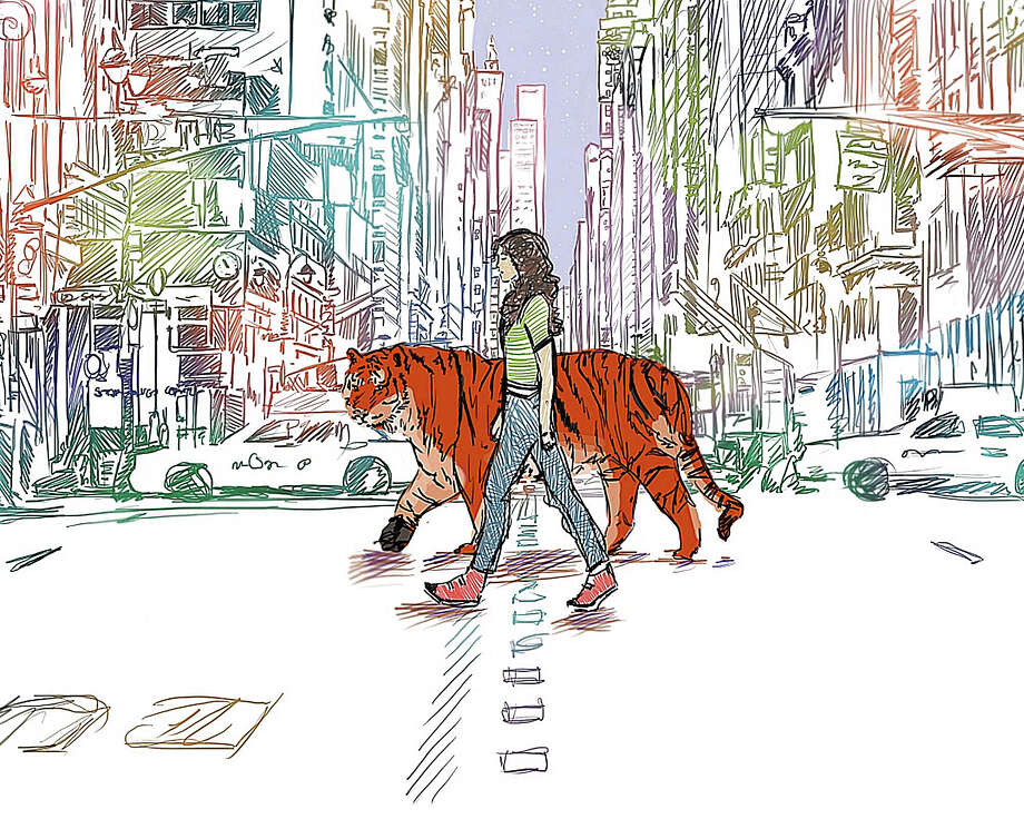 """Tiger Lily,"" a digital drawing by Alexandra McMahon, will be featured in Art Slam! at the Westport Arts Center. Photo: Contributed / Contributed Photo / Westport News"