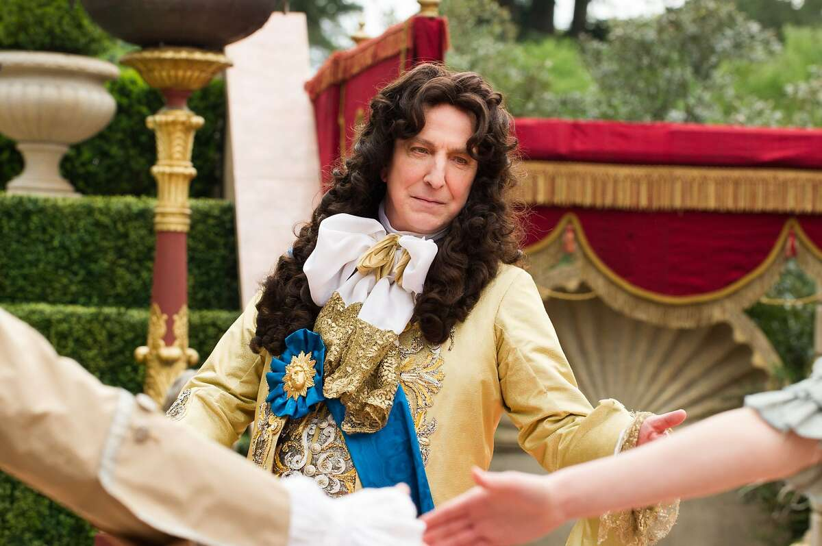 """Alan Rickman plays Louis XIV in """"A Little Chaos,"""" which he also co-wrote and directed. Co-starring Kate Winslet. _D3S6146.NEF"""