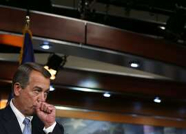 House Speaker John Boehner (R-OH) speaks to the media during his weekly news conference on Capitol Hill June 18, 2015 in Washington, DC. Speaker Boehner spoke on various topics including the deadly church shooting in Charleston, South Carolina and President Obama's trade bill.