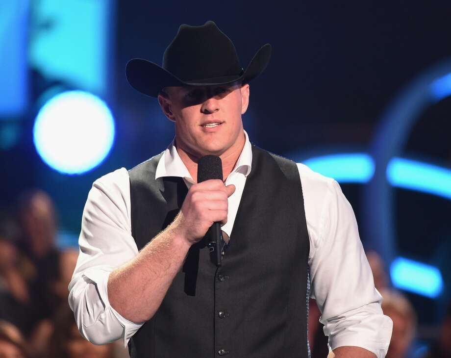 Texans star J.J. Watt will be co-hosting the CMT Music Awards tonight with Erin Andrews.Click through the gallery to see other athletes who branched into entertainment. Photo: Getty Images For CMT