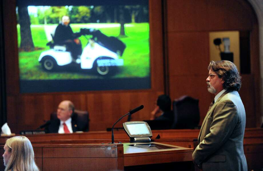 Valor Club founder Dan Pedrotti shows City Council members a video in 2012 in support of his plan of redeveloping Pecan Valley Golf Course. Photo: San Antonio Express-News File Photo / © 2012 San Antonio Express-News
