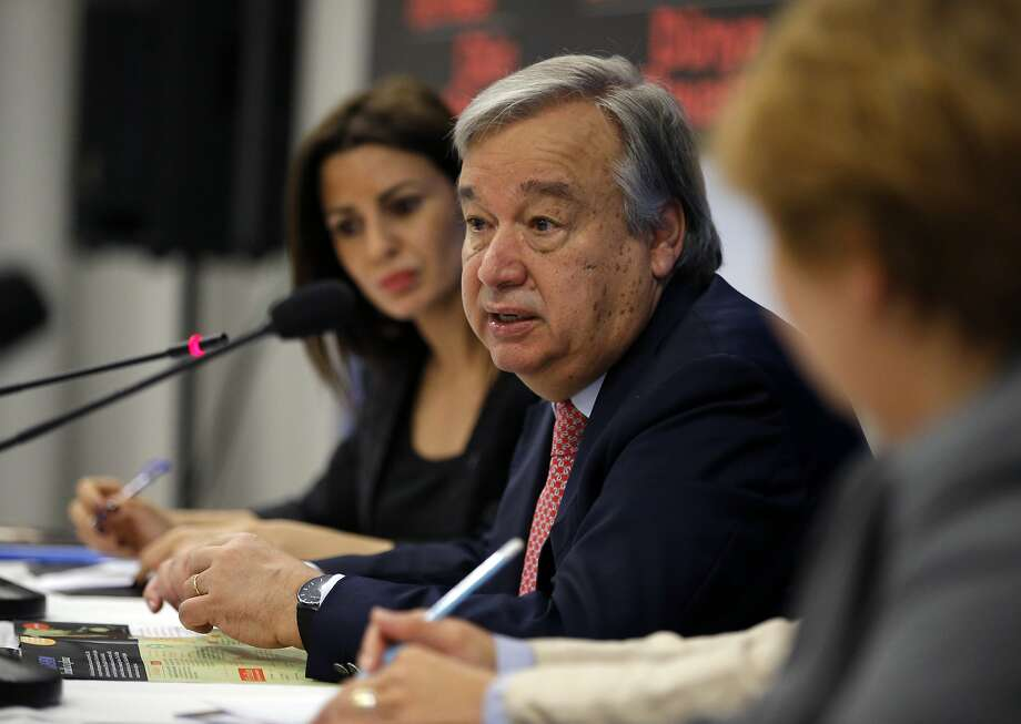 "U.N. official António Guterres warns of a refugee ""paradigm change."" Photo: Emrah Gurel, Associated Press"