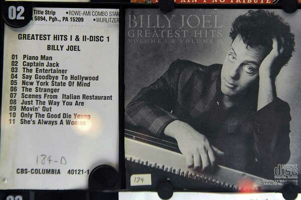 Billy Joel - Greatest Hits is seen on the jukebox at Tin and Lint bar on Caroline St. on Thursday, June 11, 2015 in Saratoga Springs, N.Y. (Lori Van Buren / Times Union)