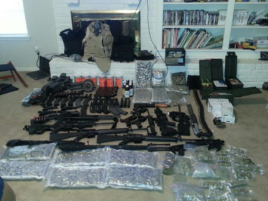 Fort Bend County Sheriff's Office shared this photo of drugs and weapons found during a June 18, 2015 raid of a Sugar Land home in the 1800 block of Acadian.