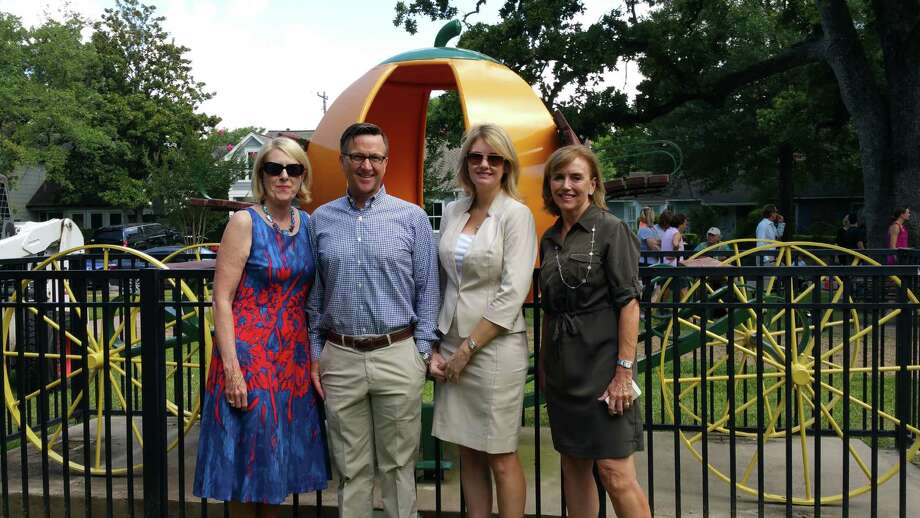 Martha Turner Sotheby's International Realty agents attended the groundbreaking renovation ceremony for River Oaks Park. Left to right are MTSIR agents Martha Adger, Jay Monroe, Liz Daniel and Mary Cooley Craddock.
