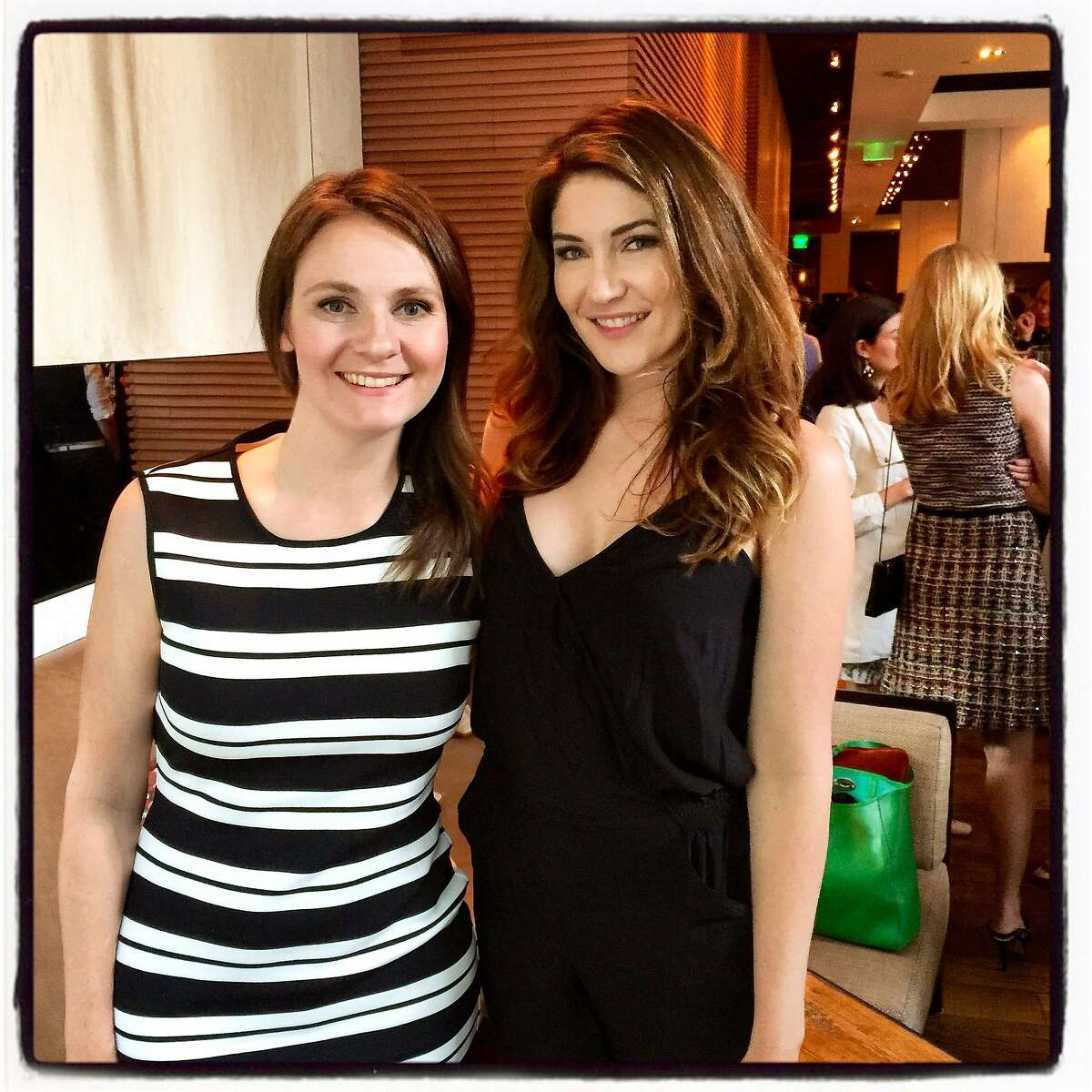 CloudFare co-founder Michelle Zatlyn (left) and StyleSeat founder & CEO Melody McCloskey at the Elle Women in Tech dinner at Prospect Restaurant. June 2015. By Catherine Bigelow.