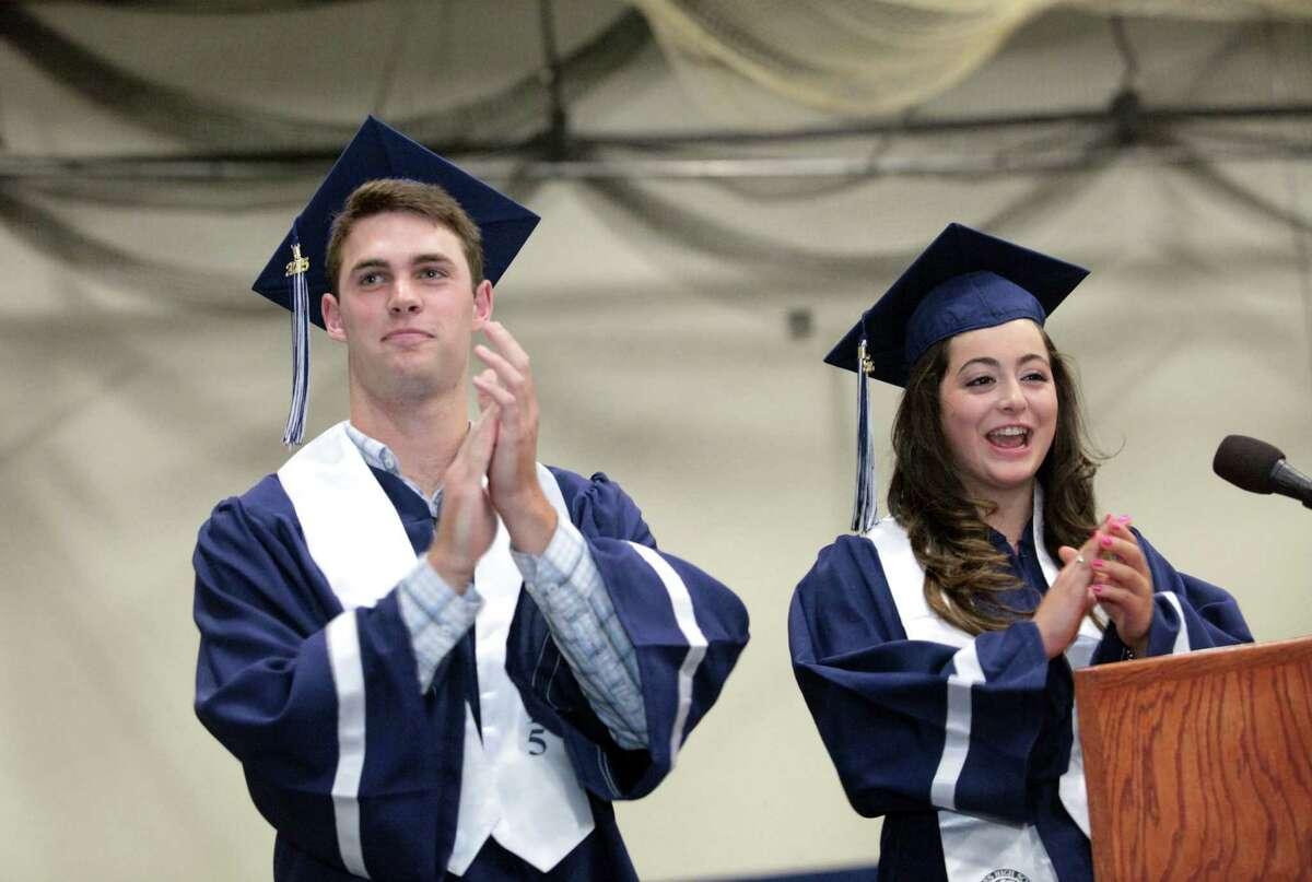 Staples High School commencement exercises in Westport, Conn. on Thursday, June 18, 2015.