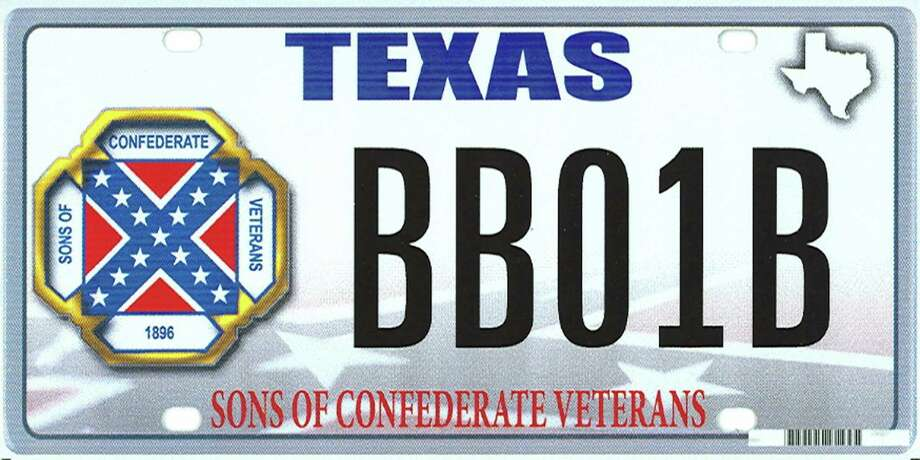 An undated handout photo of a proposed design of the novelty plate showing the Confederate flag, that Texas rejected. The Supreme Court ruled on Thursday, June 18, 2015, that Texas did not violate the First Amendment when it refused to allow specialty license plates bearing the Confederate battle flag. Photo: TEXAS DEPARTMENT OF MOTOR VEHICL, HO / New York Times / TEXAS DEPARTMENT OF MOTOR VEHICL