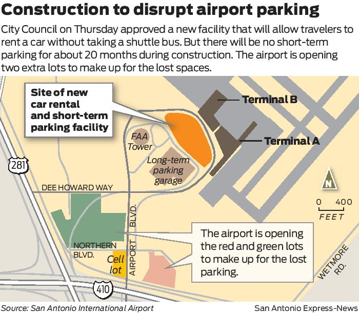 Planned Airport Construction Will Disrupt Parking San Antonio