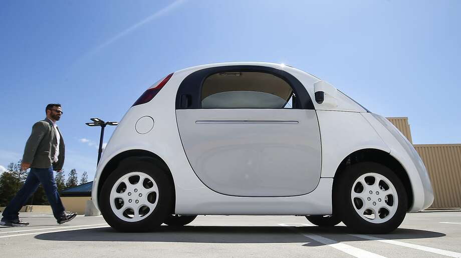 Google's prototype self-driving car didn't even have a steering wheel until California regulators insisted. Photo: Tony Avelar, Associated Press