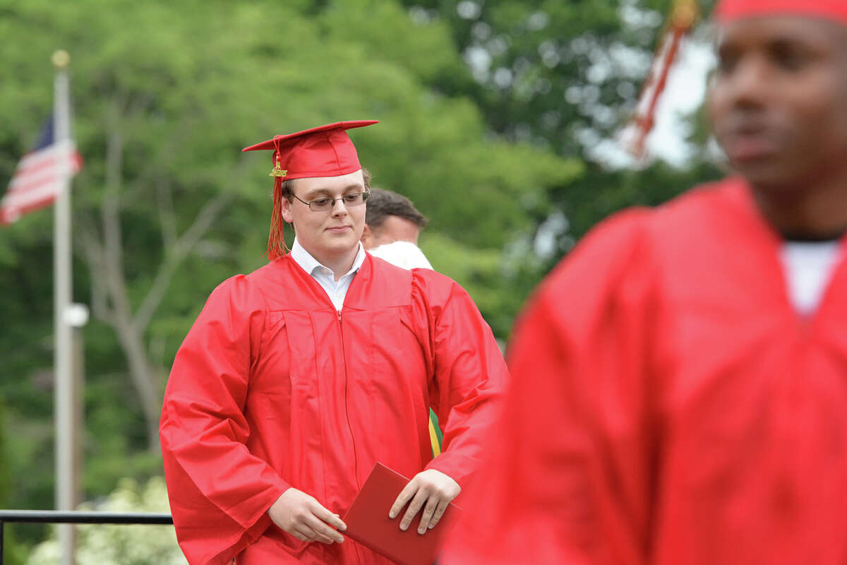 Stratford High School commencement exercises at Penders Field at Longbrook Park in Stratford, Conn. on Thursday, June 18, 2015.