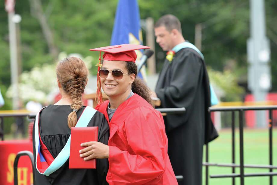 Stratford High School commencement exercises at Penders Field at Longbrook Park in Stratford, Conn. on Thursday, June 18, 2015. Photo: Amy Mortensen, For Hearst Connecticut Media / Connecticut Post Freelance