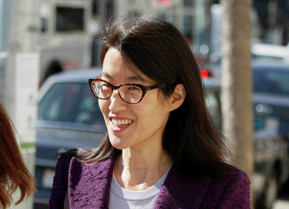 FILE - In this Feb. 24, 2015, file photo, Ellen Pao leaves the Civic Center Courthouse during a lunch break in her trial in San Francisco. The woman at the center of a high-profile gender bias lawsuit against an elite Silicon Valley venture capital firm filed an appeal on Monday, June 1, 2015, of a jury verdict against her. (AP Photo/Eric Risberg, File) Photo: Eric Risberg, STF / AP