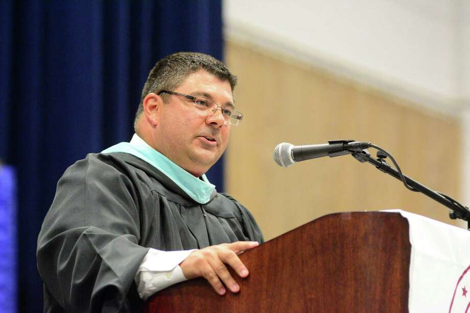 Bethel High School Commencement Ceremony was held at Western Connecticut State Universities O'Neill Center on Thursday, June 18,2015.          Principal Christopher Troetti. Photo: Lisa Weir, For The / The News-Times Freelance