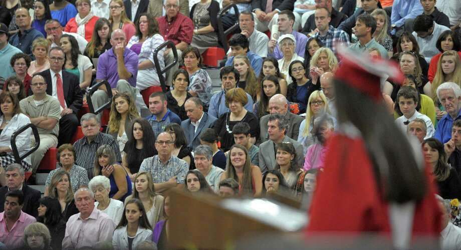 The 2015 Pomperaug Regional High School Graduation Program on Thursday night, June 18, 2015 at Pomperaug High School, Southbury, Conn. Photo: H John Voorhees III, Hearst Connecticut Media / The News-Times