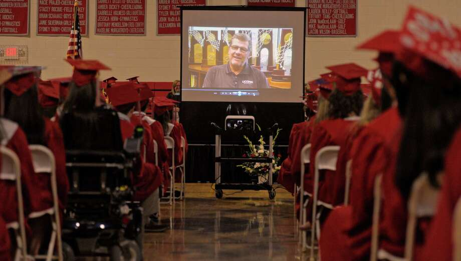 The 2015 Pomperaug Regional High School Graduation Program on Thursday night, June 18, 2015 at Pomperaug High School, Southbury, Conn. Photo: H John Voorhees III, Hearst Connecticut Media / The News-Times