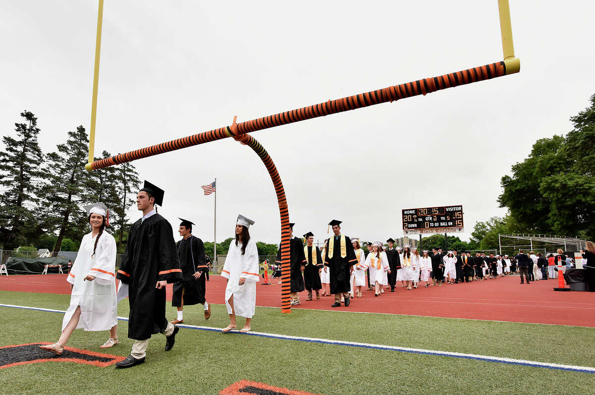 Stamford High School class of 2015 Total number of students: 521 % graduating in four years: 88% Students graduating in four years: 460 Source: Stamford school district