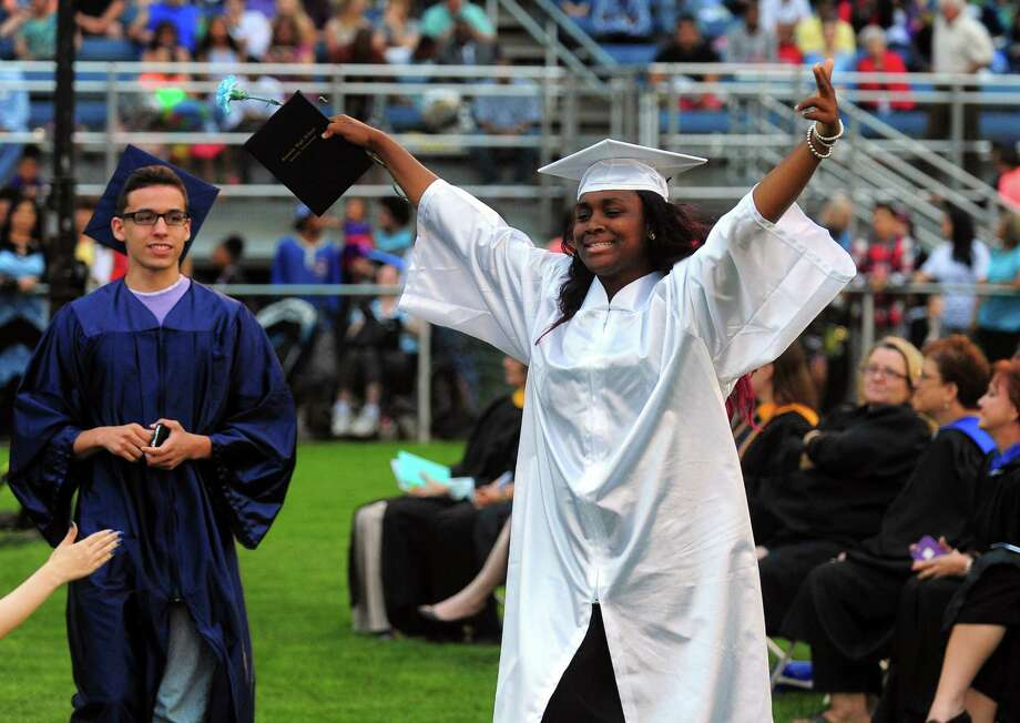 Ansonia High School's Class of 2015 Commencement Exercises in Ansonia, Conn., on Thursday June 18, 2015. Photo: Christian Abraham, Hearst Connecticut Media / Connecticut Post