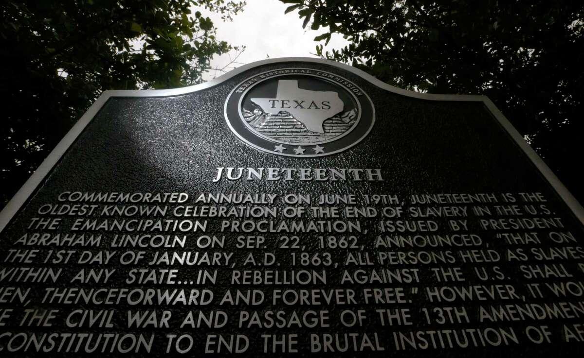 The Texas Historical Commission erected a marker in Galveston where Gen. Gordon Granger's headquarters stood.