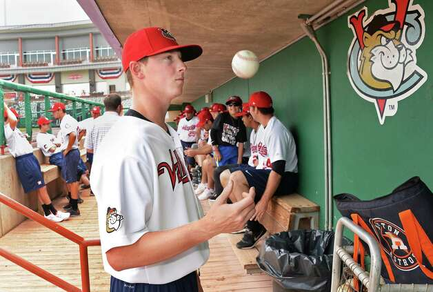 Tri-City ValleyCats pitcher Trent Thornton during Media Day Joe Bruno Stadium Thursday June 19, 2015 in Troy, NY.  (John Carl D'Annibale / Times Union) Photo: John Carl D'Annibale / 00032315A