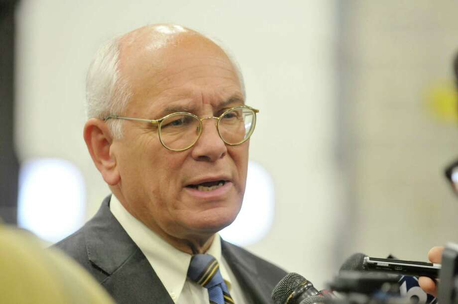 Congressman Paul Tonko talks to members of the media as he talks a tour of Hill & Markes on Thursday, Nov. 6, 2014, in Amsterdam, N.Y.  (Paul Buckowski / Times Union) ORG XMIT: MER2014110615190277 Photo: Paul Buckowski / 00029380A