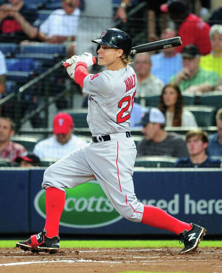 ATLANTA, GA - JUNE 18: Brock Holt #26 of the Boston Red Sox leads off the fourth inning with a triple against the Atlanta Braves at Turner Field on June 18, 2015 in Atlanta, Georgia. (Photo by Scott Cunningham/Getty Images) ORG XMIT: 538582621 Photo: Scott Cunningham / 2015 Getty Images