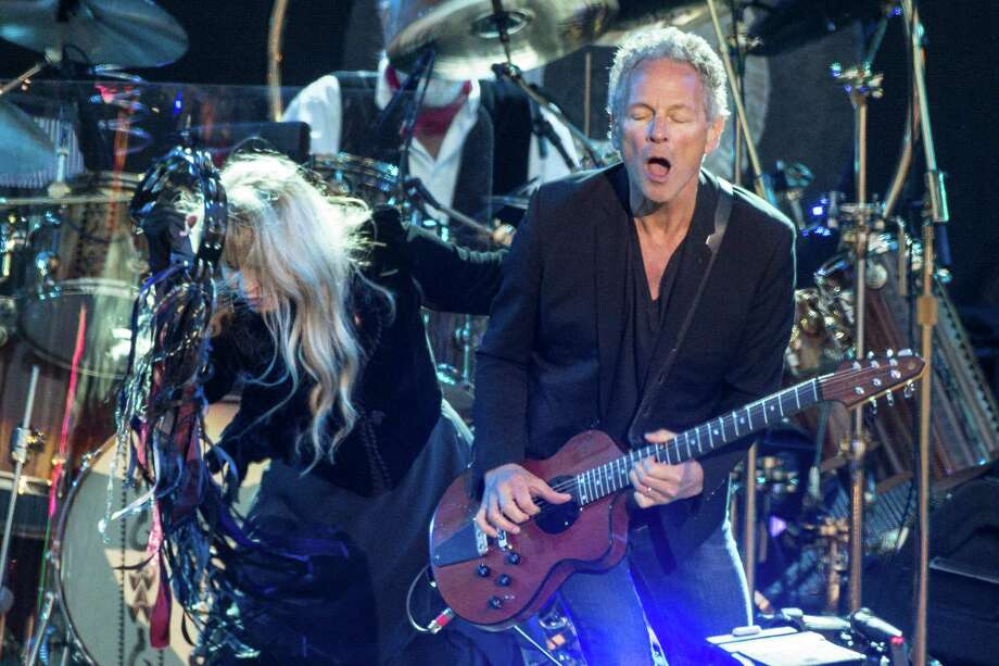 Stevie Nicks and Lindsey Buckingham from Fleetwood Mac perform on Day 4 of the Isle of Wight Festival at Seaclose Park on June 14, 2015 in Newport, Isle of Wight. Photo: Rob Ball, Getty Images / 2015 Rob Ball