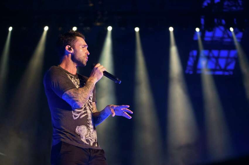 Adam Levine of Maroon 5 performs on stage at Palau Sant Jordi on June 14, 2015 in Barcelona, Spain.