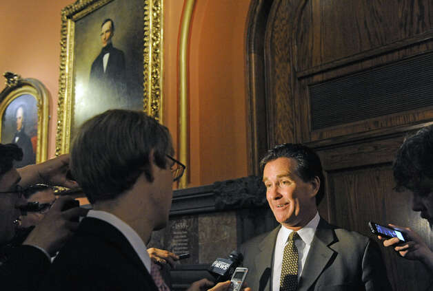 Senate Majority Leader John Flanagan comes out of a meeting with Governor Andrew Cuomo at the Capitol on Thursday June 18, 2015 in Albany, N.Y.  (Michael P. Farrell/Times Union) Photo: Michael P. Farrell, Albany Times Union / 00032332A