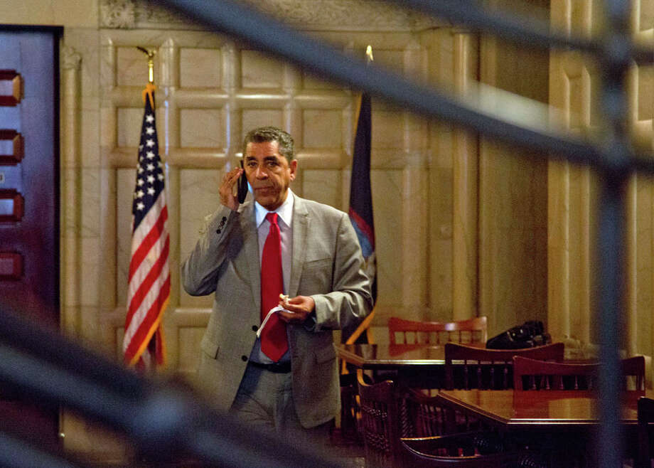 U.S. Rep. Adriano Espaillat said Thursday that he has the coronavirus, making the New York Democrat the latest House member to report testing positive since dozens huddled together for protection during the Jan. 6 insurrection at the U.S. Capitol. (archive photo) Photo: Mike Groll, AP / AP