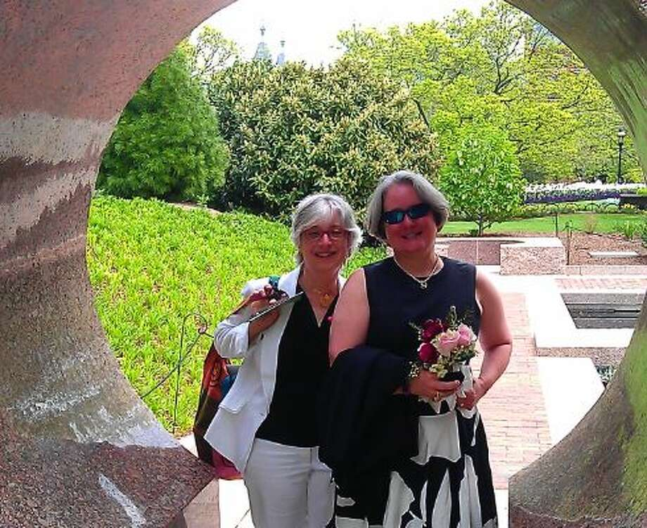 Our New York wedding. I'm on the left. Photo: Gray, Lisa, Courtesy Leah Lax