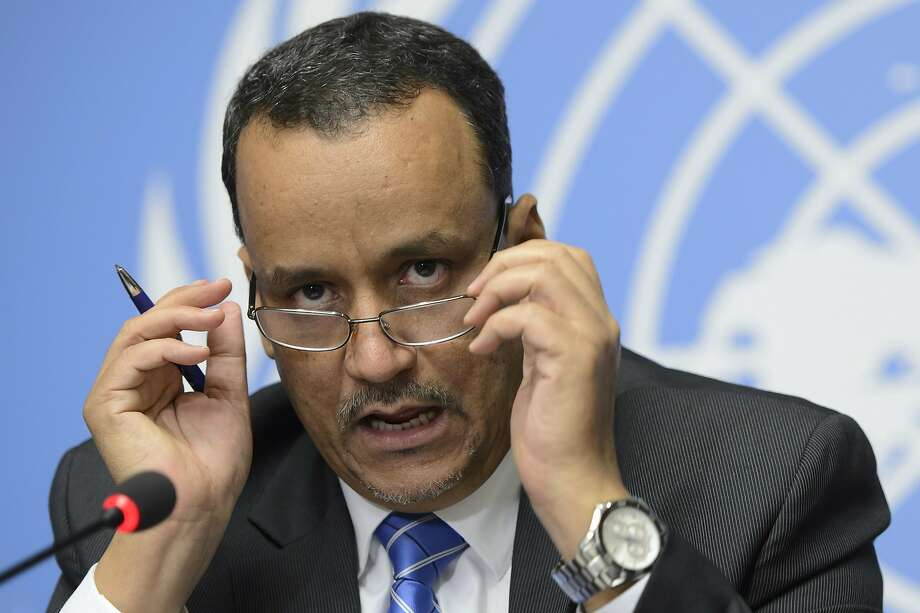 """U.N. envoy for Yemen Ismail Ould Cheikh Ahmed says a cease-fire and peace deal """"will require further consultation. It's a matter of time."""" Photo: Martial Trezzini, Associated Press"""