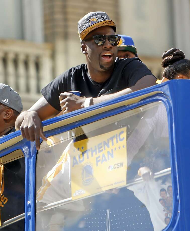 Draymond Green during Golden State Warriors' victory parade down Broadway in Oakland, Calif., on Friday, June 19, 2015. Photo: Scott Strazzante, The Chronicle