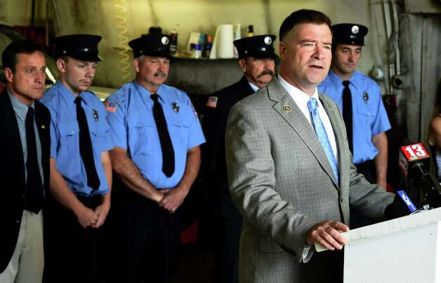 Congressman Chris Gibson speaks at the announcement of FEMA funds Friday morning June 19, 2015,  to build a new firehouse for the Schoharie Niagara Engine 6 Fire Company       (Skip Dickstein/Times Union) Photo: SKIP DICKSTEIN / 00032335A