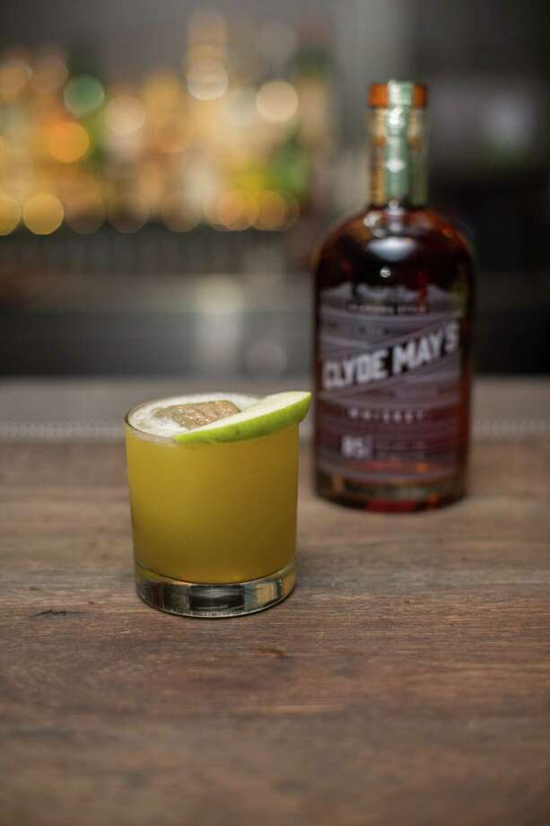 Apple of Clyde's Eye is a cocktail made with Clyde May's Whiskey and apple puree. Photo: Clyde May's Whiskey / Clyde May's Whiskey