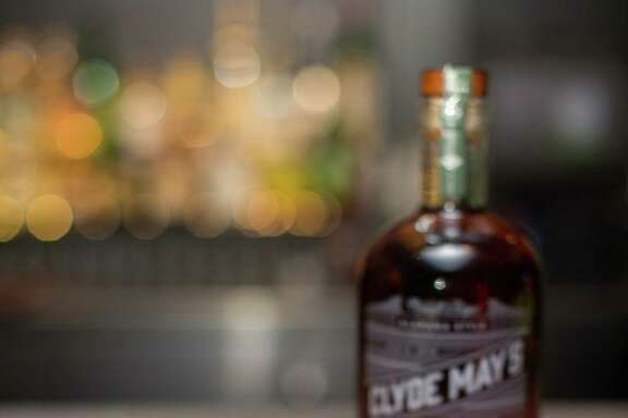 Apple of Clyde's Eye is a cocktail made with Clyde May's Whiskey and apple puree.
