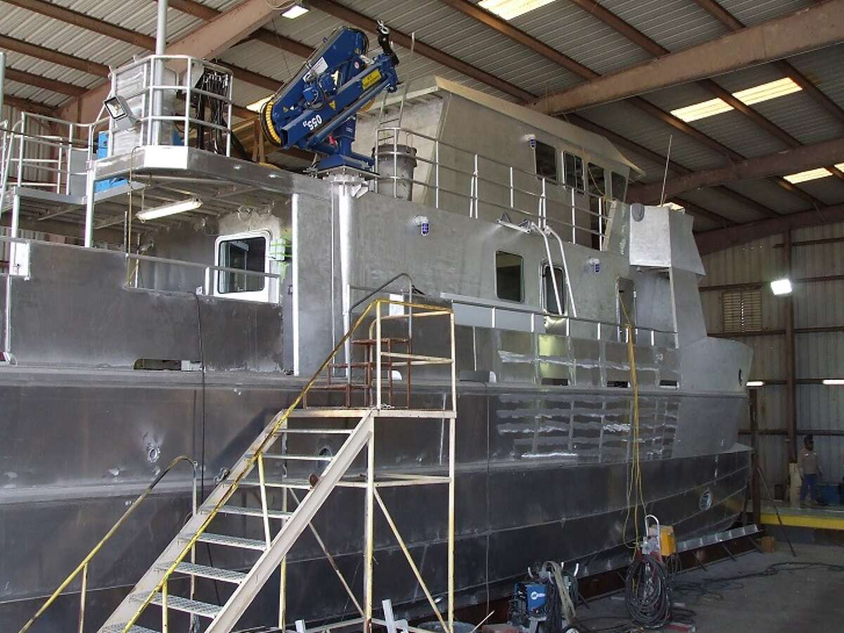 The teaching vessel Trident was built for Texas A&M Galveston at GEO Shipyard in New Iberia, La., and was delivered in June 2015. (Texas A&M)