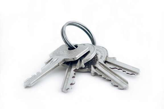 house keys on key ring