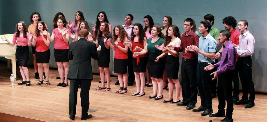 The YMCA Jerusalem Youth Chorus, under the direction of Micah Hendler, performs in Tokyo. Illustrates MIDEAST-CHORUS Photo: HANDOUT, Washington Post / THE WASHINGTON POST