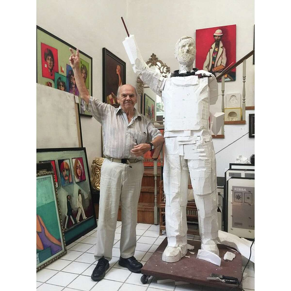 """Houston production company The Storyhive recently leaked details on an upcoming documentary about artist and sculptor David Adickes, the man behind many of the large-scale public art pieces dotting the Bayou City area. The film, titled """"Monumental,"""" will chronicle the daily life of Adickes who at the age of 88 is still exercising his creative muscles. It's been in production for three years now, according to the producers."""
