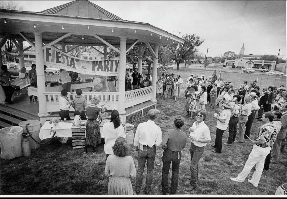It's Fiesta in Fredericksburg, Texas, 1986.
