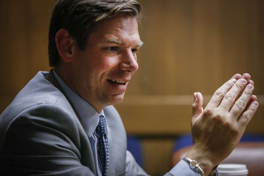 Congressman Eric Swalwell, Jr., speaks to the Chronicle editorial board on Friday, June 19, 2015. Photo: Russell Yip, The Chronicle