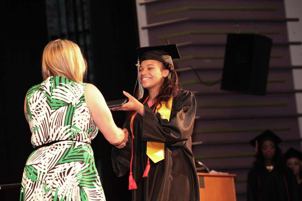 Bullard Havens Technical High School commencement exercises at Klein Auditorium in Bridgeport, Conn. on Friday, June 19, 2015.