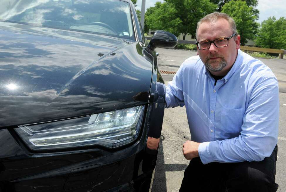 John Bullough of RPI's Lighting Research Center is evaluating the potential for new lighting technologies and approaches to improve driving safety at night, including new car headlight systems on a 2014 European Audi A-7 Quattro on Friday June 19, 2015 in Troy, N.Y. (Michael P. Farrell/Times Union)