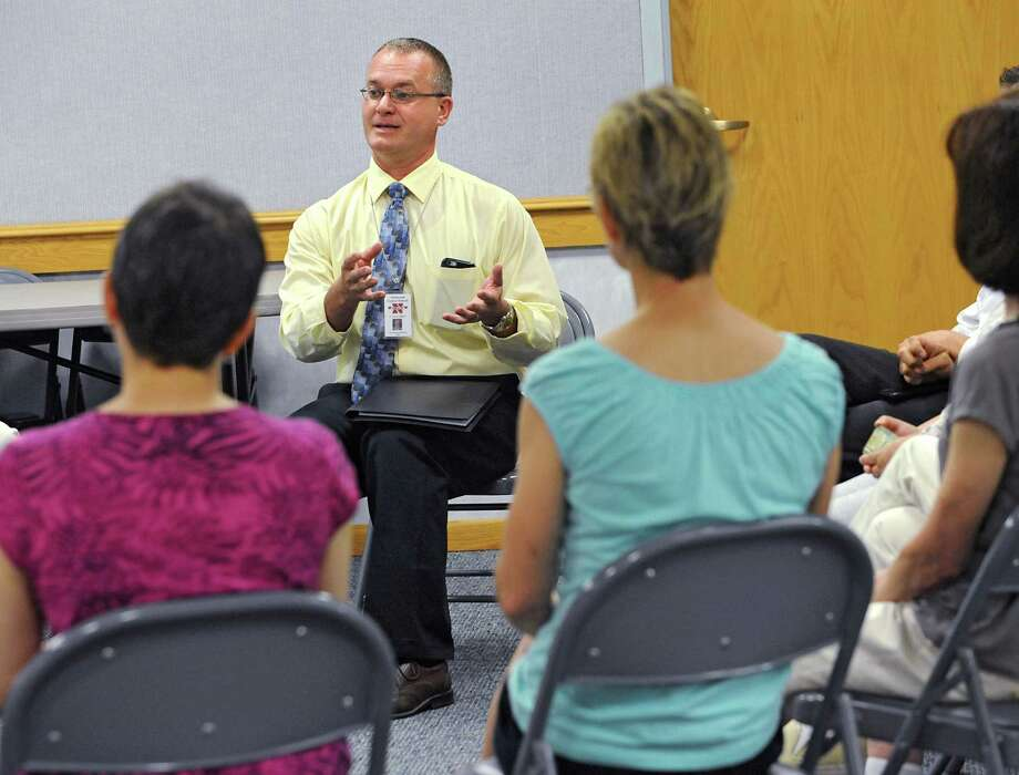 Cosimo Tangorra Jr., new Niskayuna superintendent of schools, meets community members at the Niskayuna Town Library on Friday, June 19, 2015 in Niskayuna, N.Y.  (Lori Van Buren / Times Union) Photo: Lori Van Buren / 00032344A